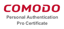 Comodo Personal Authentication Pro Certificates 个人专业版认证证书